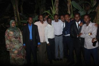 A group of Somali undergraduate graduands.