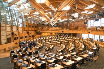 Debating Chamber at the Scottish Parliament