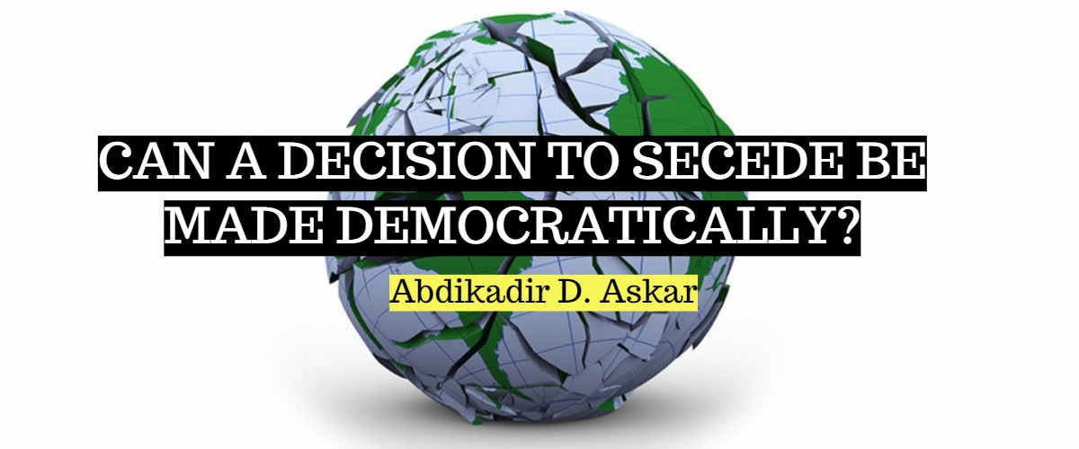 Can a decision to secede be made democratically?